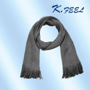 Mens Grey Cashmere Scarf KFWJ057  China ScarfMens Cashmere Cashmere Football Scarves Men
