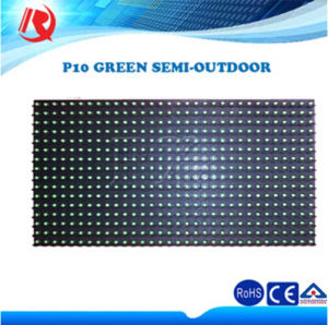 Outdoor Semioutdoor Advertising Single Green Color P10 LED Display Module pictures & photos
