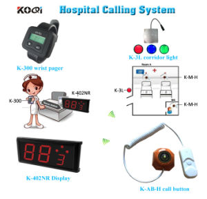 Hospital Care Call System with Button Light Watch and Screen pictures & photos