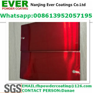 Decrative Transparent Clear Red Color Topcoat Electrostatic Spray Powder Coating pictures & photos