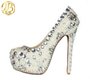 Fashion High Heel Lady Shoes with Crystal (LSDN-10)