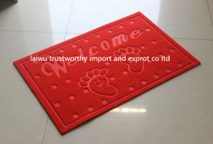 Embroidery Door Mat Carpet with PVC Back pictures & photos