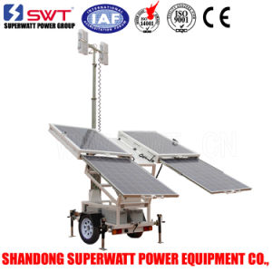 Vs Solar Lighting Tower 24VDC with LED Floodlights and Optional DC Generator Set