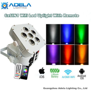 6X12W 6in1 WiFi Irc Wireless Battery Light Uplight pictures & photos