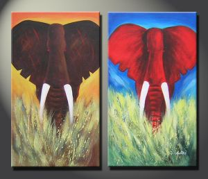 Africa Elephant Group Painting