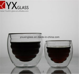 Borosilicate Heat-Resistant Glass Drinking Mug/Double Wall Layer Glass Cup pictures & photos