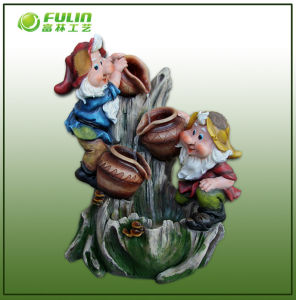 Big Gnome Resin Decorative Fountains (NF14322)