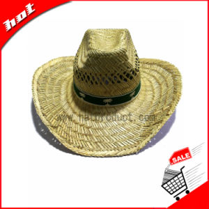 Natural Straw Hat Promotional Cowboy Hat pictures & photos