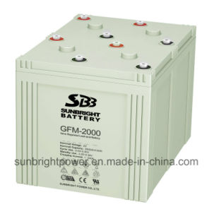 SBB Brand 2V2000ah Deep Cycle AGM Telecom Battery pictures & photos