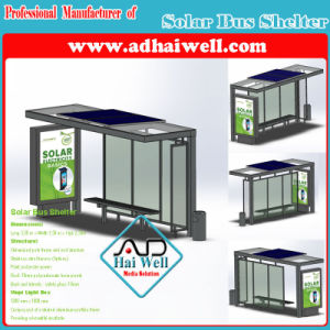 Green Solar Panel Power Public Bus Shelter/ Bus Station/Bus Stop pictures & photos
