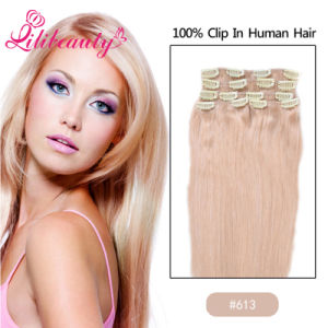 Wholesale Virgin Remy Human Hair Clip in/on Hair Extension pictures & photos