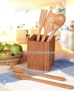 Bamboo Kitchen Utensil Tools Set (HB-713) pictures & photos
