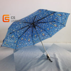 Sale Blue Cover Bubble Image Full Automatic Umbrella for Kids pictures & photos