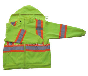 En471 ANSI Hi Viz Safety Hoodie with Reflective Tape (DPA026) pictures & photos