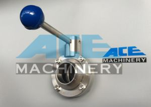 Welding Sanitary Butterfly Valve with Elbow Ss304/316L (ACE-DF-GG4) pictures & photos