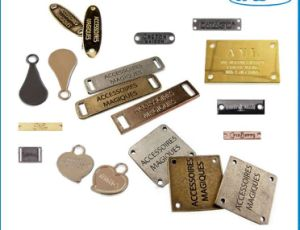 Personalised Metal Accessories Clothing Metal Lapel Pins Garment Labels pictures & photos