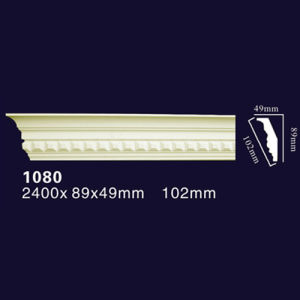 1080 Factory Price Guangzhou Polyurethane PU Foam Decorative Cornice Moulding / PU Crown Molding Interior