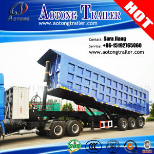 Tri-Axle Dump Trailer Stone Transportation Tipper Semi Trailer for Sale pictures & photos