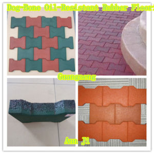 Dog-Bone Rubber Paver, Kids Playgrund Paver, Sports Rubber Paver pictures & photos