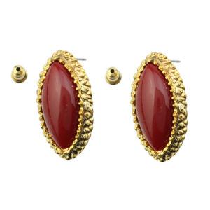Gold Resin Alloy Earrings (FQ-5003)