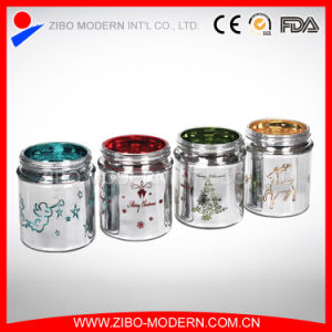 Wholesale Romantic Decorative Christmas Glass Candle Holder pictures & photos