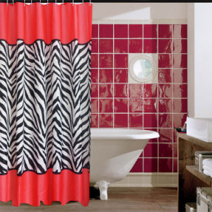Fashion Shower Curtain 100%Poly Waterproof Shower Curtain (JY-474) pictures & photos