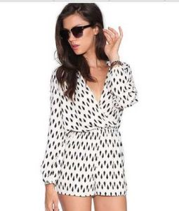 Sexy Long Sleeve 100% Chiffon Jumpsuite for Women and Ladies OEM pictures & photos
