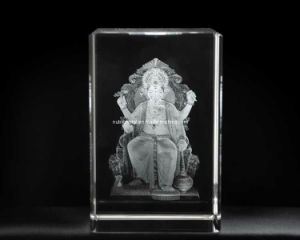 3D Lalbagcha Raja Crystal for Hinduism Religious Souvenir (R3020) pictures & photos