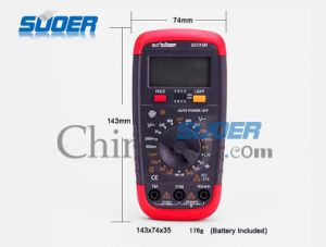 Suoer Hot Sale Multimeter Portable Multimeter Digital Multimeter (SD_33B) pictures & photos