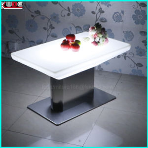 PE Coffee Table with Stainless Steel Base Side Table pictures & photos