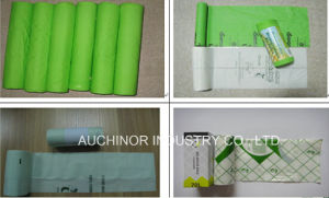 Corn Starch Biodegradable Plastic Garbage Bag on Roll pictures & photos