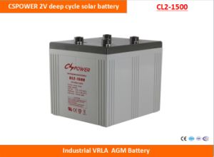 Cspower 2V1500ah Deep Cycle AGM Battery for Solar Power System, China Manufacturer pictures & photos