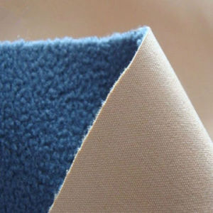 Stretch Polyester Bonded Fabric with TPU+Polar Fleece pictures & photos