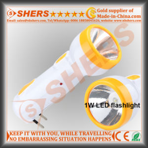 Rechargeable 1W LED Flashlight with 6 LED Desk Lamp (SH-1917) pictures & photos