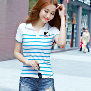 Custom Logo Women′s Polo Shirt with OEM High Quliaty Polo Shirt pictures & photos