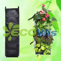 7 Pocket Reinforced Vertical Wall Flower Herb Planting Bag (HT5093B) pictures & photos