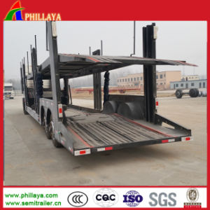 Hydraulic Cylinder Two Single Wheel Axles Car Trailer pictures & photos