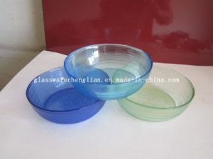 Solid Color Round-Shape Glass Plate (P-08) pictures & photos