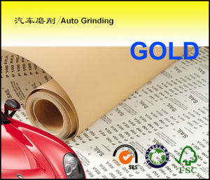 Velcro Disc Abrasive Paper Roll for Automotive Gold