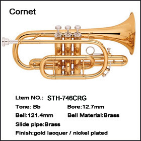 Cornet Gold Lacquer Bb Key
