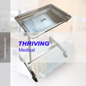 Stainless Steel Medical Mayor Trolley pictures & photos