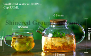 1.8L Glass Tea Pot Cold Juice Kettle Glass Pitcher pictures & photos