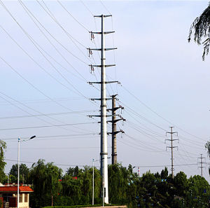 110 Kv Steel Pipe Power Transmission Linear Pole pictures & photos