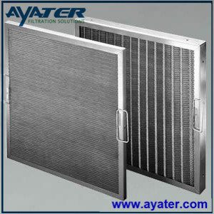 High Temperature Ss 316 Hitachi Air Panel Filter 495*495*48 mm pictures & photos