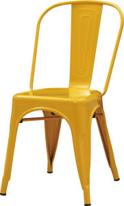 Fashionable Yellow Plating Metal Chair for Restaurant (FOH-BCC18) pictures & photos