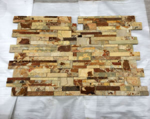 Yellow Rusty Stacked Natural Rock Stone Panels Veneer (SMC-SCP346) pictures & photos