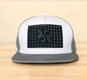 Custom Fitted Snapback Cap with Silicon Embossed Patch