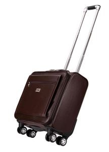 PU 4 Wheels Polit Trolley Luggage Trolley Case Jb610 pictures & photos