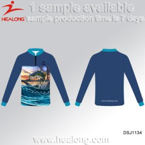 Healong Latest Design Sportswear 3D Sublimation Fishing Shirt pictures & photos