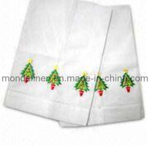 Christmas White Linen Towel (TT-005)